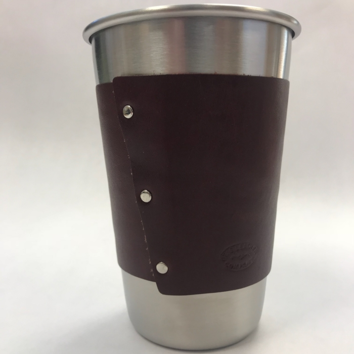 Stainless Cup with Otis Leather Wrap